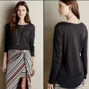 Anthropologie Deletta Nubby Circle Tee Sweater M